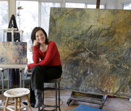 Deborah Moss Marris in her Studio